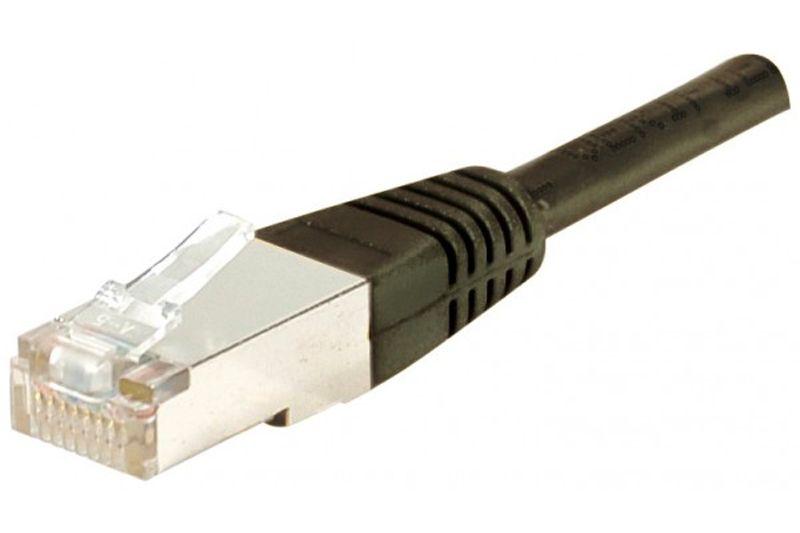 Câble ethernet Cat 5e 5m FTP noir