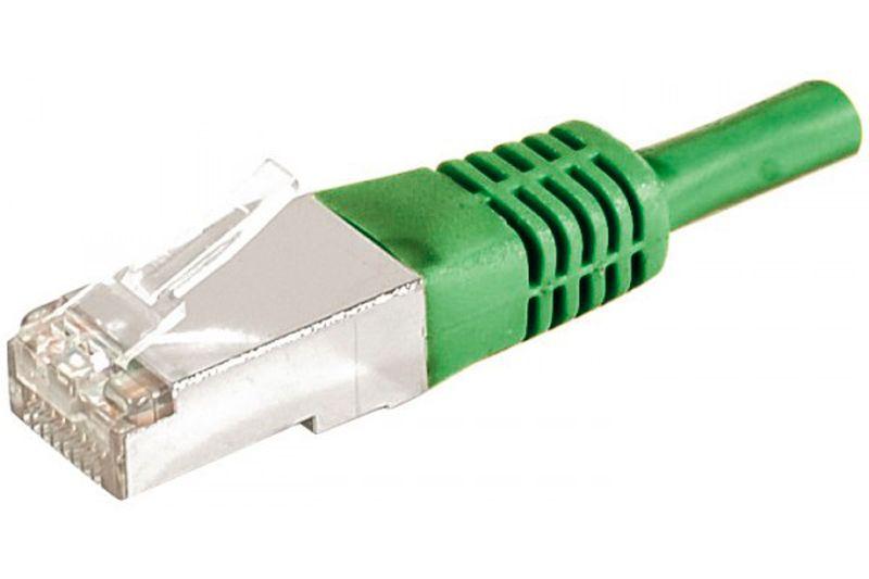 Câble ethernet Cat 6a 3m FTP vert