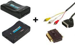 Convertisseur HDMI vers Péritel et RCA noir