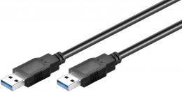 Câble USB 3.0 mâle mâle noir 1.80m