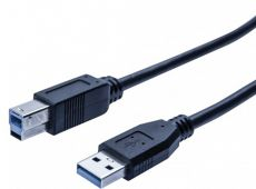 Câble USB 3.0 imprimante noir 3m