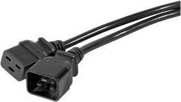Câble électrique C20 vers C19 2m noir