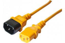 Rallonge électrique C13 - C14 1.80m moniteur onduleur orange