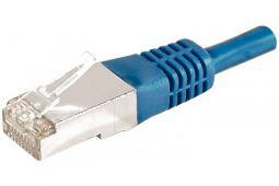 Câble ethernet Cat 6a 0.15m FTP bleu